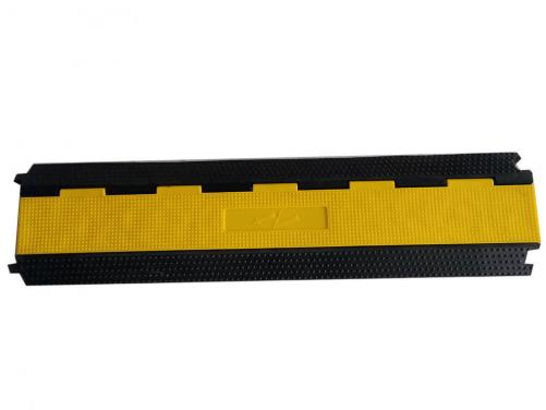 Yellow PVC Lid High Quality 2 Channel Stage Use Rubber Cable Tray