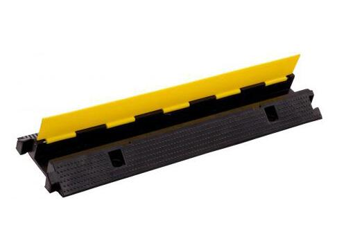 High Quality 2 Channel Rubber Cable Bridge Ramp ,Cable Protection Tile