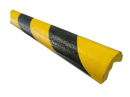 Plastic Factory equipments use pu soft foam corner protectors with black and yellow cover