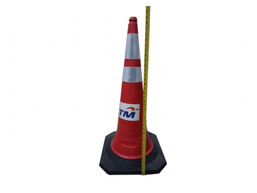 HDPE 1m Height 5.0kg Rubber Base Pe Traffic Cone