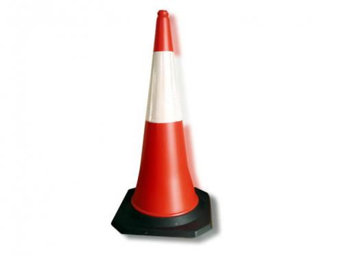 1 meter pe road traffic cone for safety with rubber base
