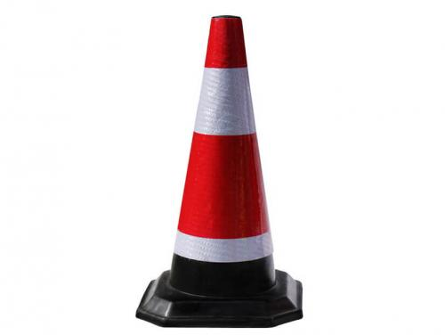 Manufacture 700mm Flexible Reflective Rubber Warning Safety Traffic Cone for Saudi