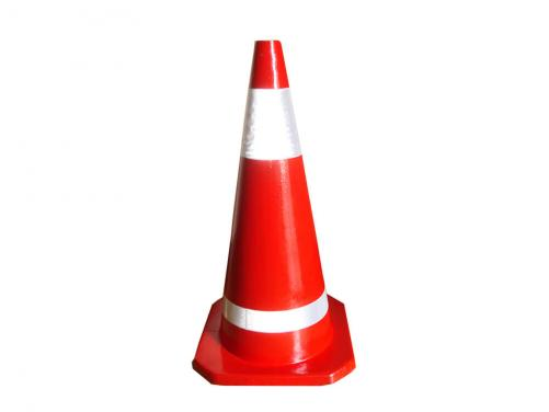 70cm Red Color Factory Sale Traffic Cone Rubber Material