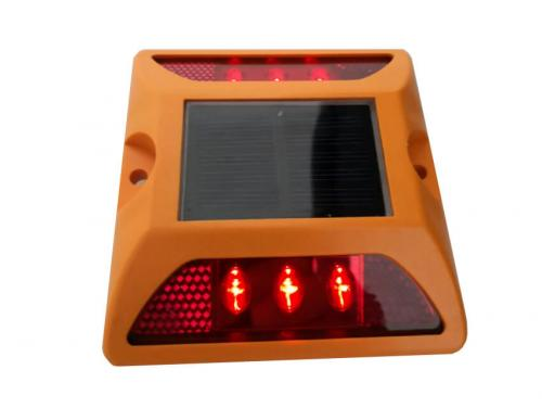 Solar Panel Led Plastic Road Stud for Roadway Safety