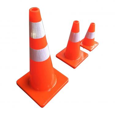 Manufacturer Hot Sale 70 cm Flexible Road Safety PVC Used Traffic Cones