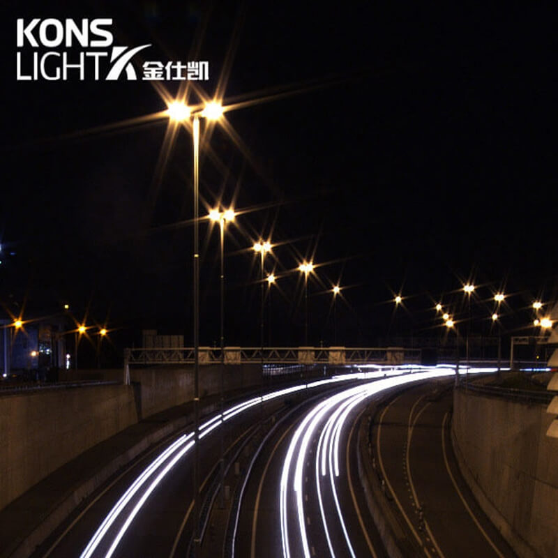 What are the advantages of LED street lamps compared to high pressure sodium lamps?