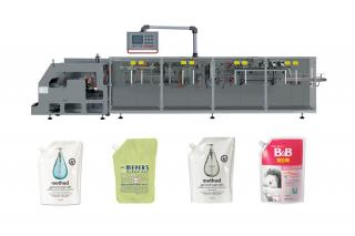 liquid plastic pouch filling and sealing package
