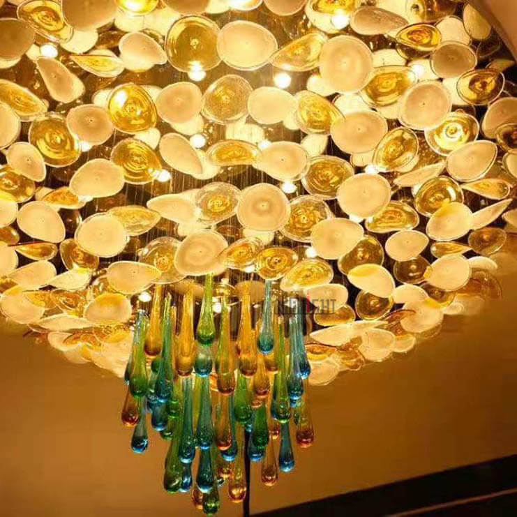 NHB080C Lotus Leaf Ceiling Lamp