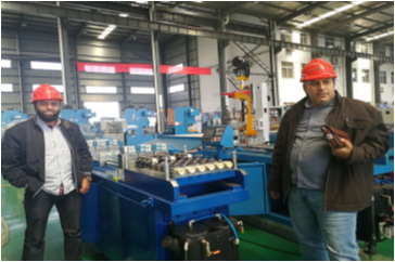 Customer comes to inspect the roll forming machine