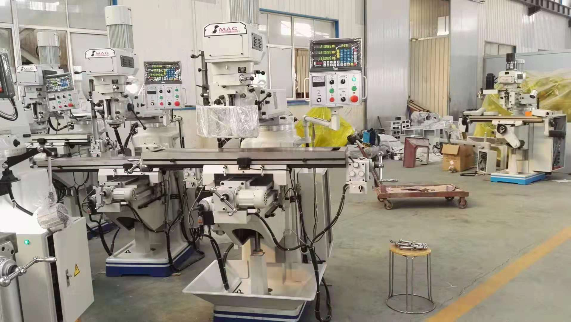 Milling machine ready for shipment