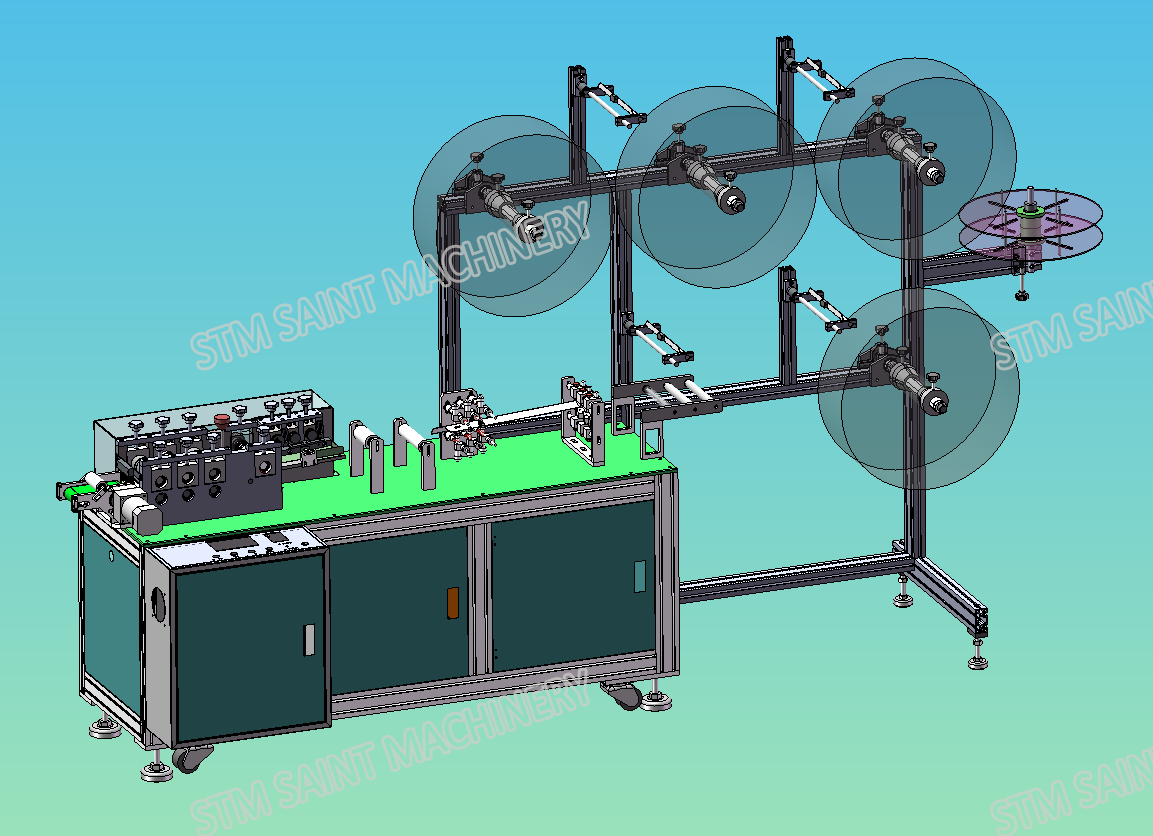 Semi-Auto Medical Mask Making Machine
