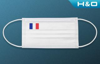 Disposable protective face маsk(National Flag)-(non-medical)