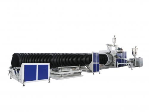HDPE/PP Hollow wall/ Carat pipe production line