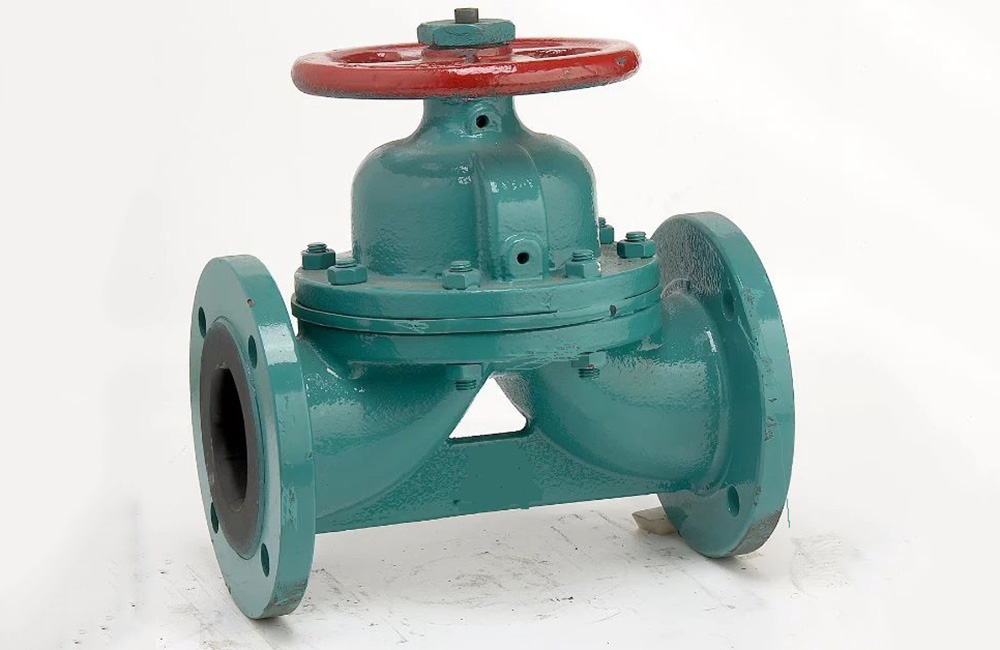 Weir Pattern Rubber Lined Diaphragm Valve