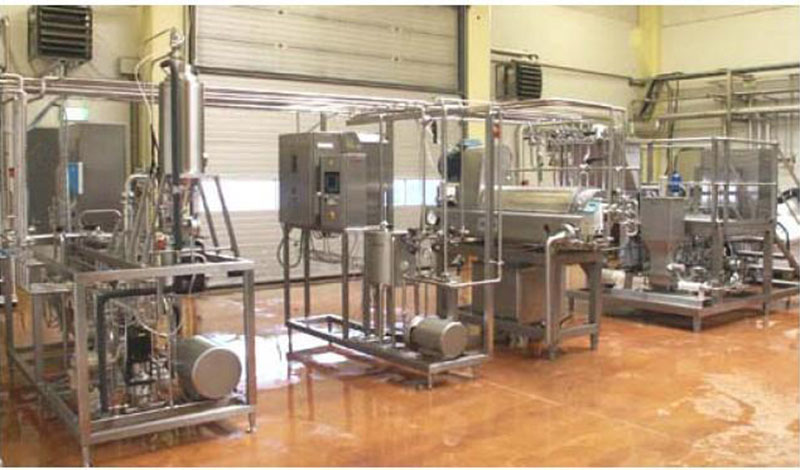 Combined UHT milking processing machine