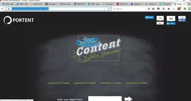 Portent简易的免费内容营销工具