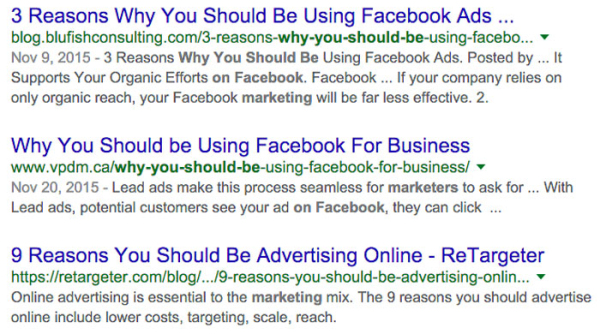 关于Facebook营销技巧的截图