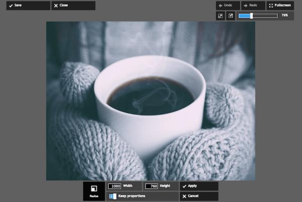 使用Pixlr可以轻松调整图像大小