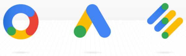 谷歌广告,谷歌营销平台和谷歌广告管理器的徽标