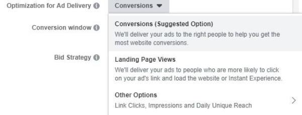 需要选择广告投放设置