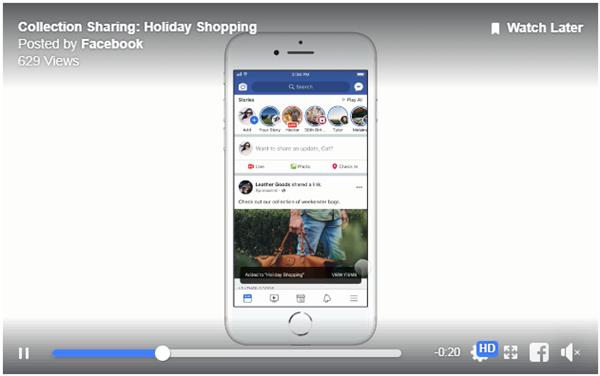 Facebook新技术的操作页面截图