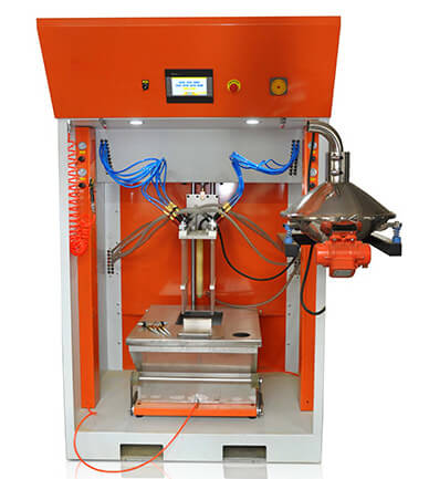 powder coating feed center