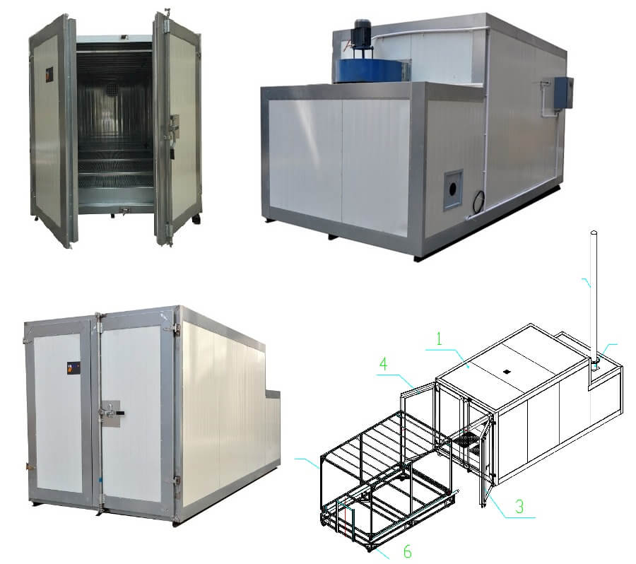 diesel powder coating oven for sale