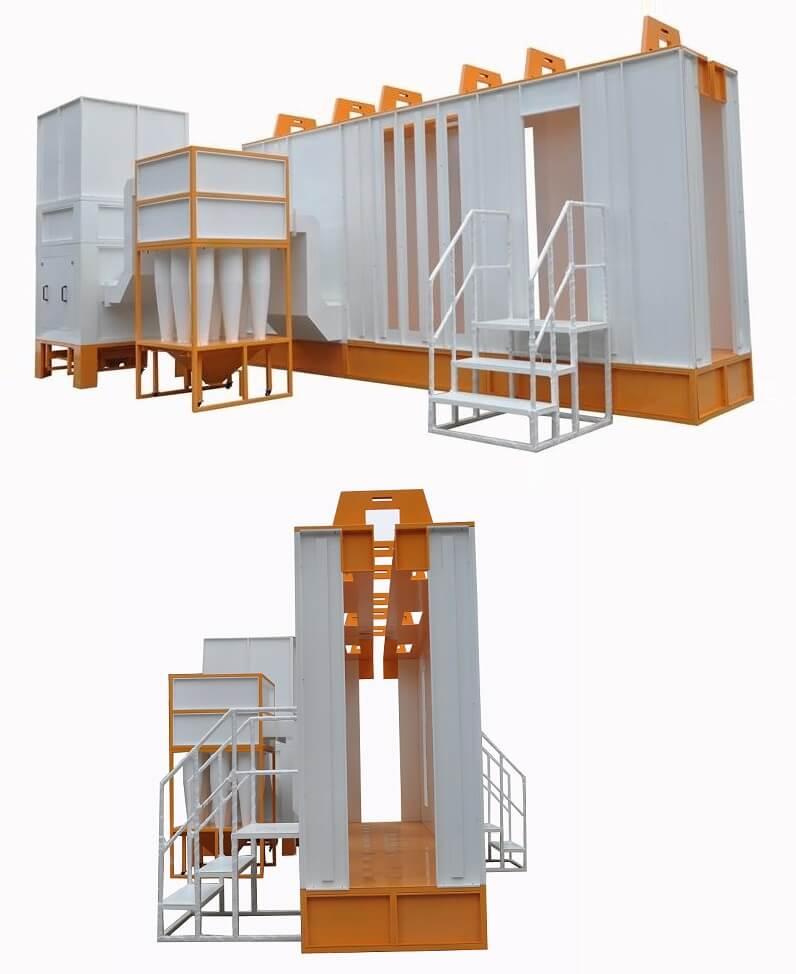 cyclone powder coating booth