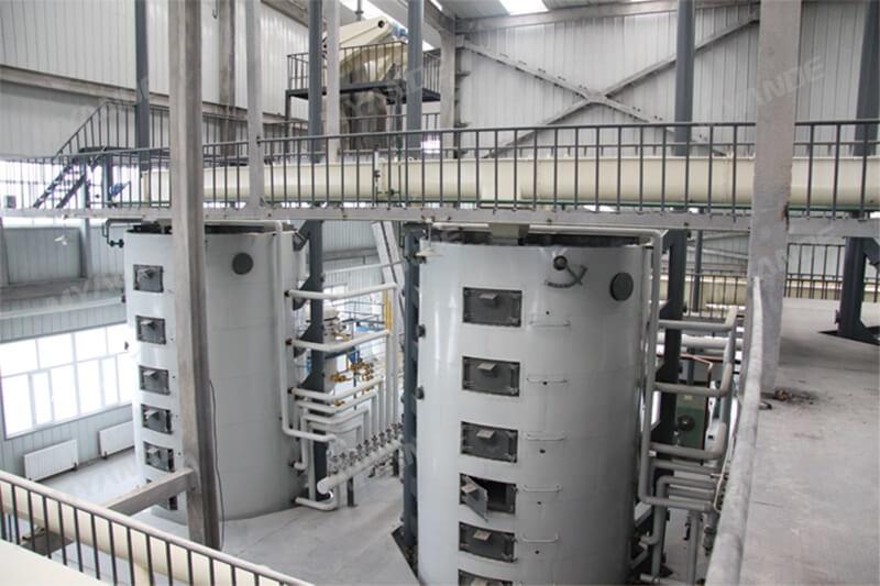 หม้อหุงแนวตั้ง Oilseed ในโรงงานผลิตน้ำมันเมล็ดฝ้าย