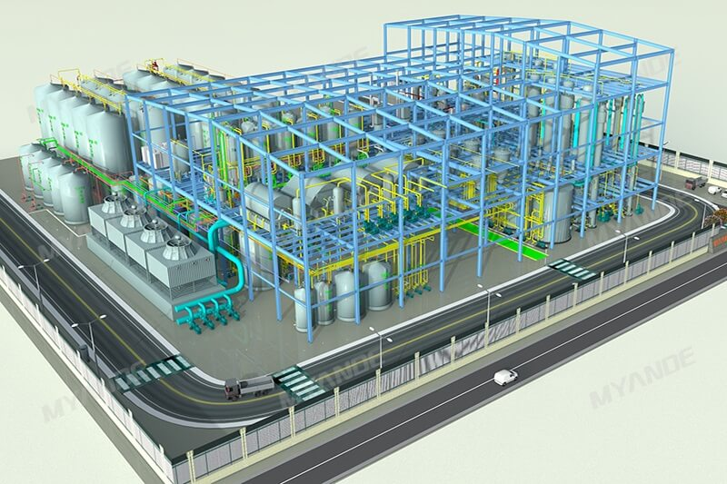 Maltose syrup factory machinery 3D Design
