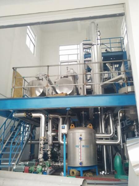 Electroplating wastewater evaporation & crystallization system