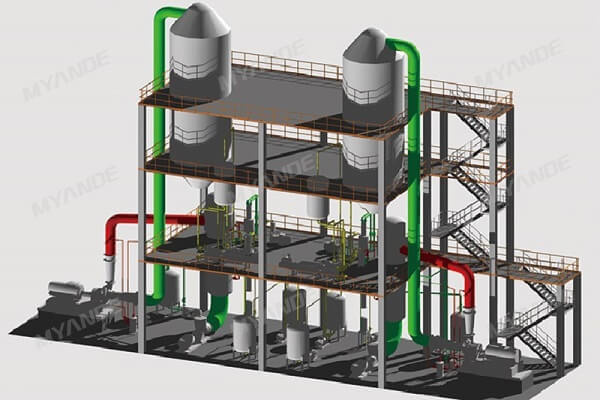 3D Design of MVR Evaporation System