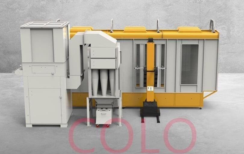 powder coating booth cyclone