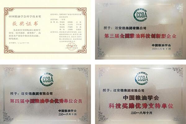 Myande Won 4 Awards from CCOA
