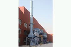 Dedusting system of wind power foundry