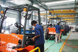 Industrial vehicle production line