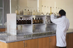 Chemical analysis laboratory