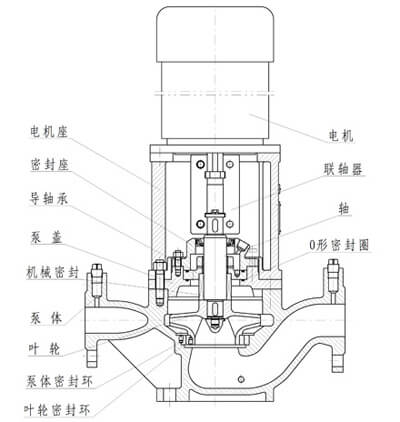 Inline pump structure diagram without flushing