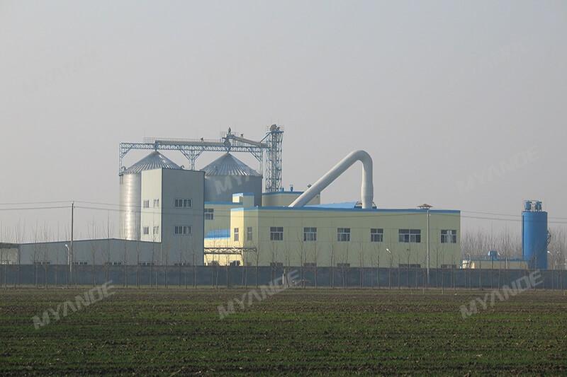 Linha de processamento de amido de milho