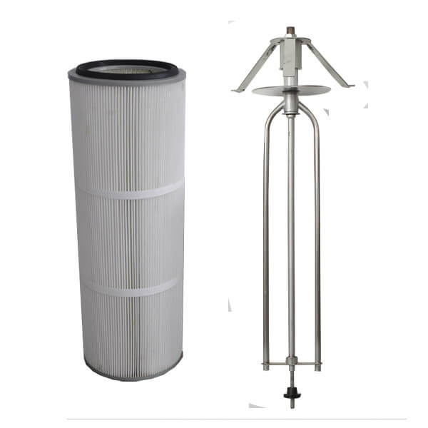rotary wing powder coating filters