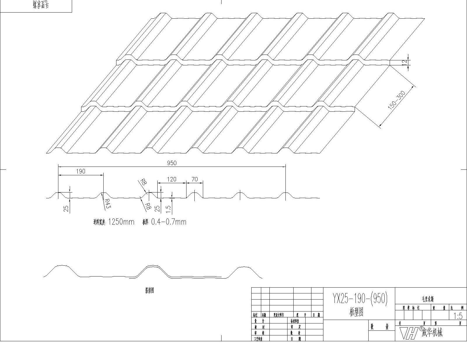 Tile Roll Forming Machine profile/design