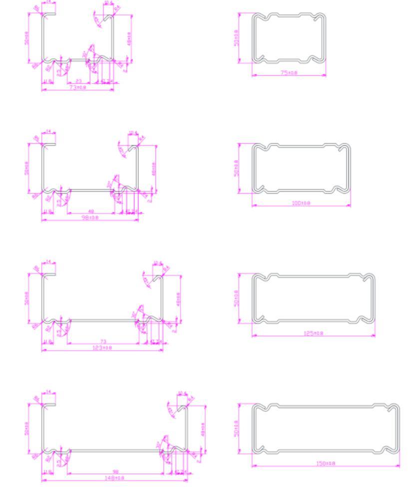 Beam Roll Forming Machine profile /design