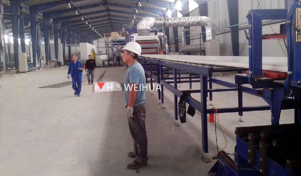 PU sandwich panel production line