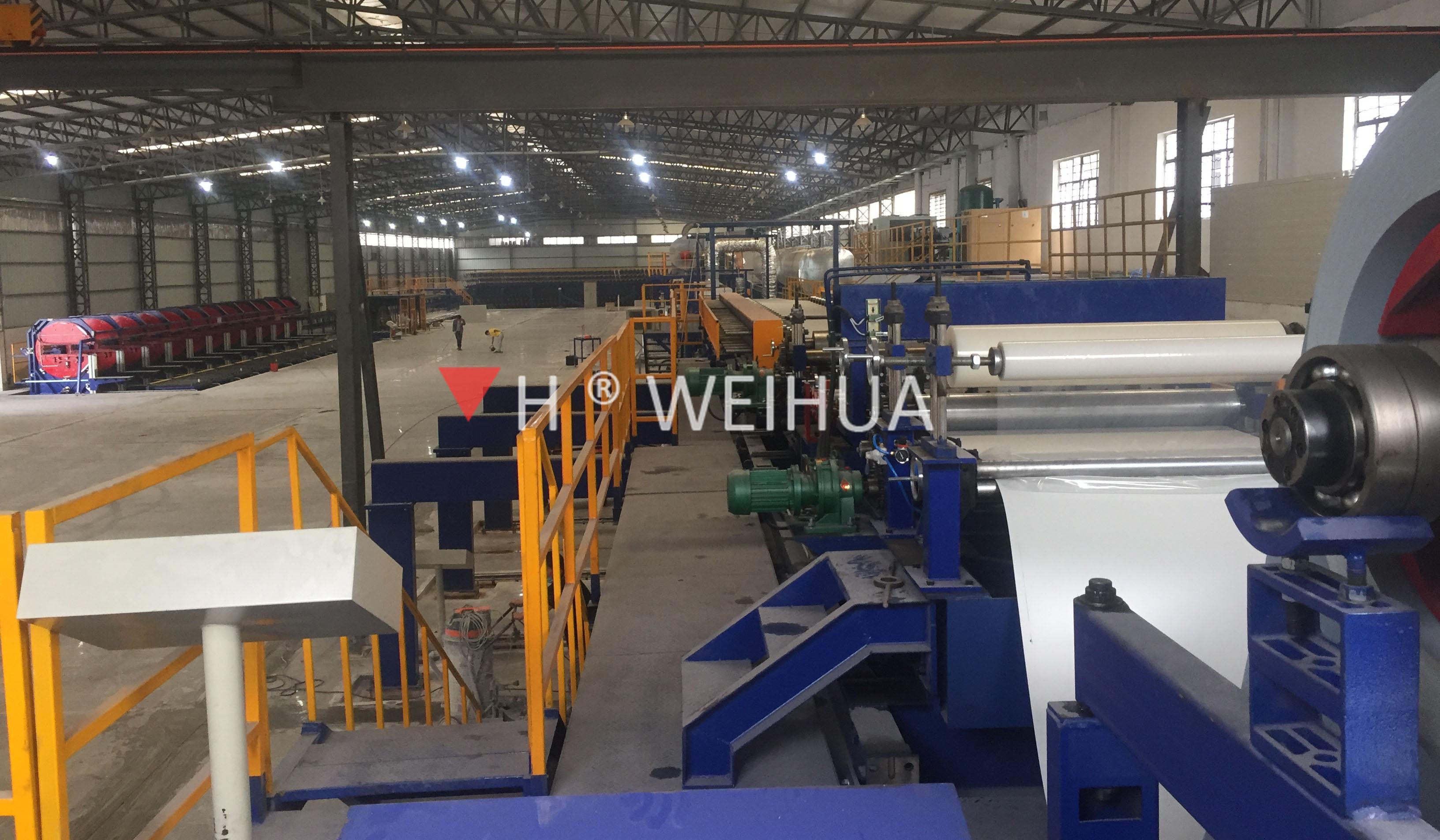continuous PU sandwich panel production line picture