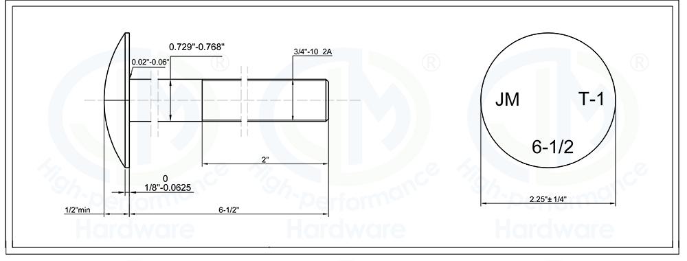 Step Bolt ANSI/ASME standard DIN standard