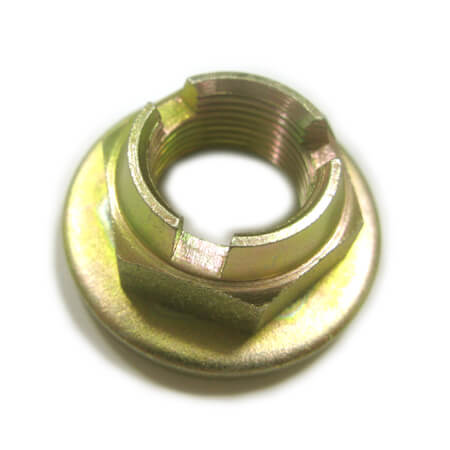 Slotted Nut with flange