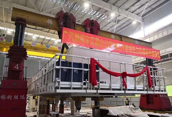 大眾、廣汽重型壓力機生產線安裝現場