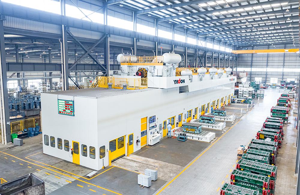 揚鍛四點多連桿自動化沖壓生產線穩定為特斯拉和大眾供貨