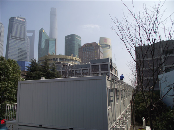 Mobile container house and the Shanghai Center