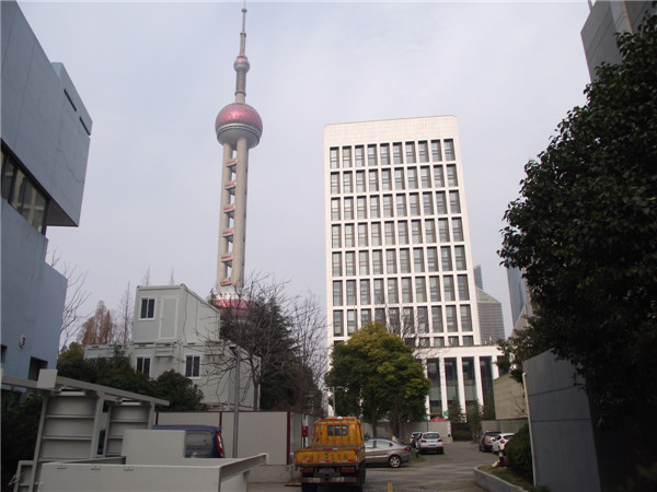 Prefabricated house and The Oriental Pearl Tower